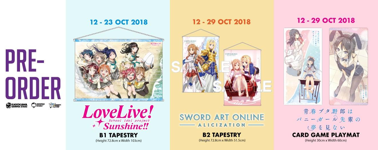 Pre order for 8 OCTOBER 2018