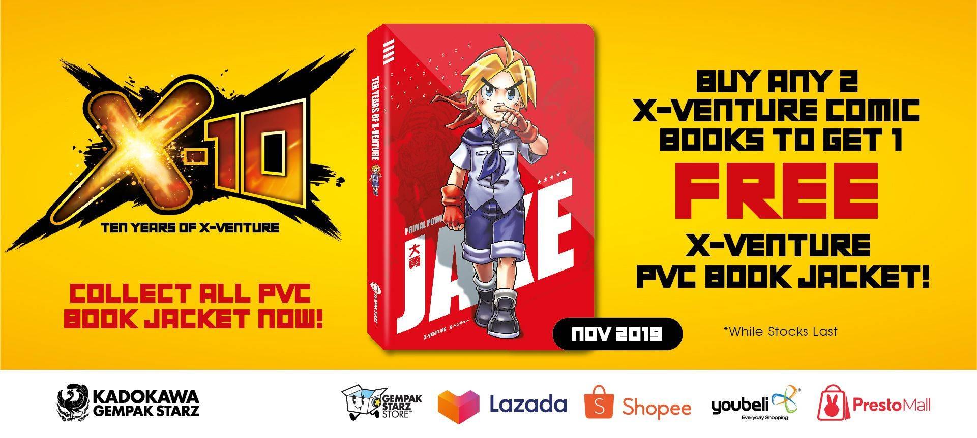 X-10 PVC Book Jacket (Oct 2019)