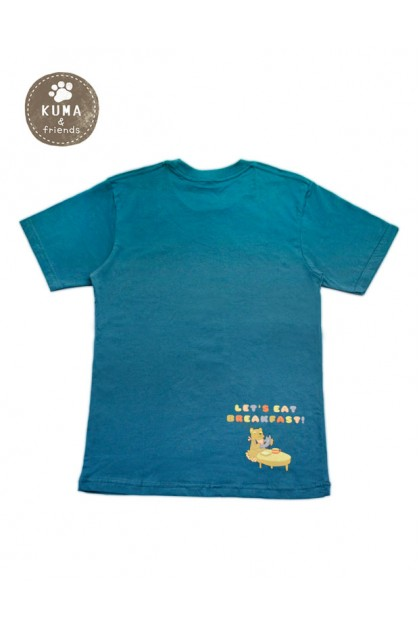 T-SHIRT KUMA SALMON TEAL BLUE