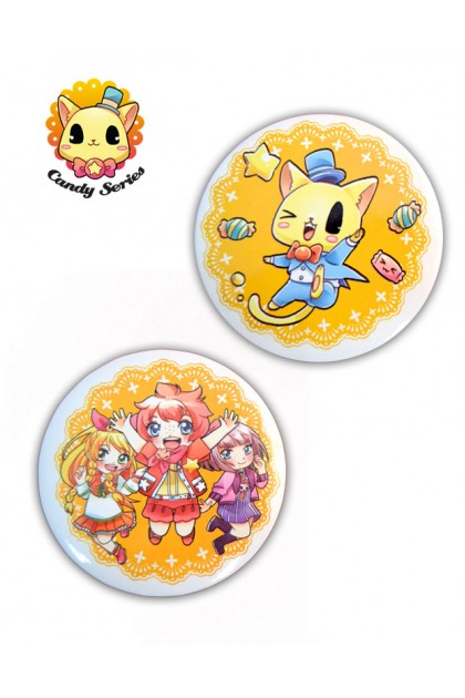 CANDY SERIES 2 PCS PACK BADGES