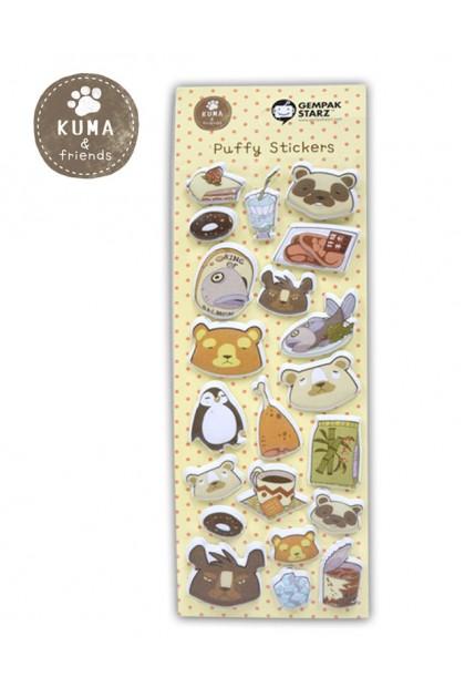 KUMA & FRIENDS  PUFFY STICKER