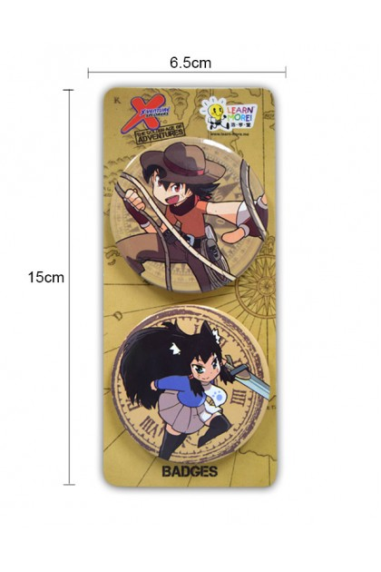 THE GOLDEN AGE OF ADVENTURE 2 PCS PACK BADGES