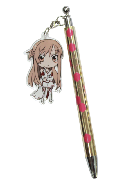 "Sword Art Online Pen with an Acrylic Charm"" Asuna"""