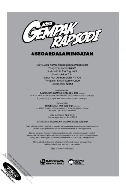 Komik Gempak 03: Rapsodi: #SegarDalamIngatan