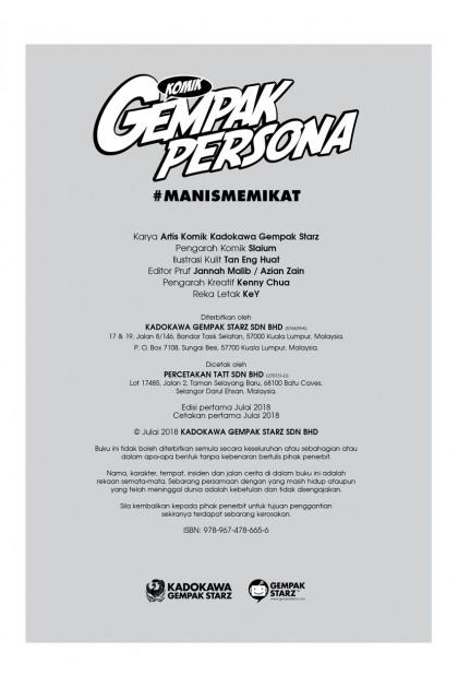 KOMIK GEMPAK 06: PERSONA: #MANISMEMIKAT
