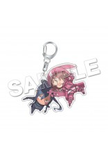 Sword Art Online Alternative Gun Gale Online Acrylic Keychain LLENN & PITOHUI