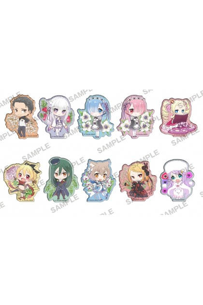 Re ZERO Clear Clip Badge ~flower garden~